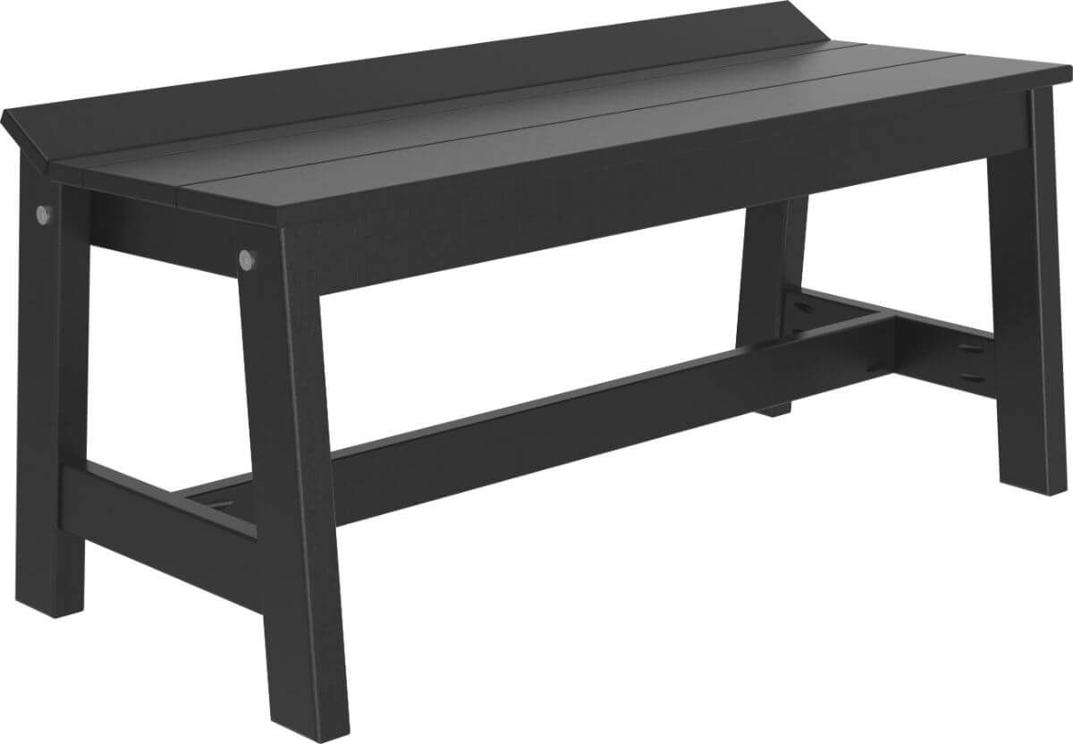 Black Stockton Outdoor Dining Bench