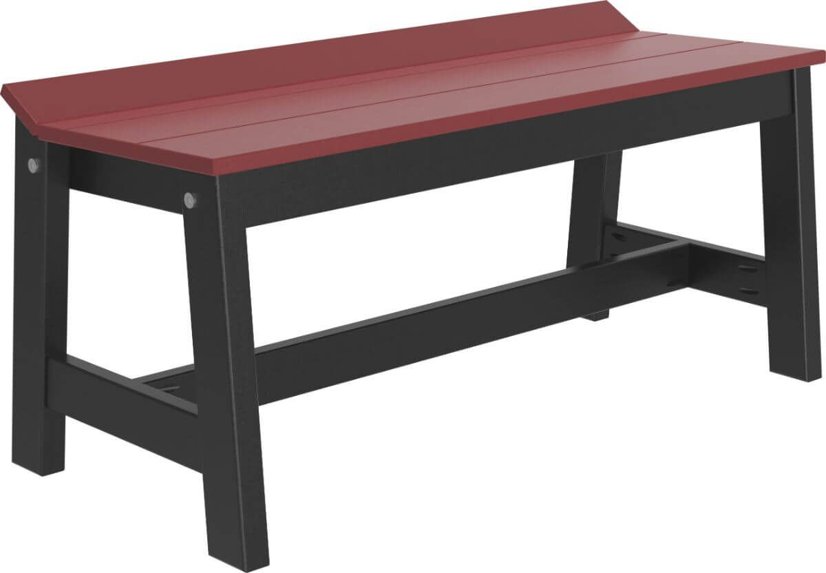 Cherrywood and Black Stockton Outdoor Dining Bench