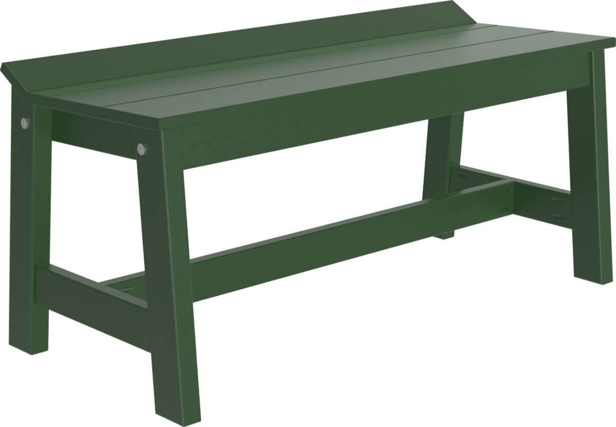 Green Stockton Outdoor Dining Bench