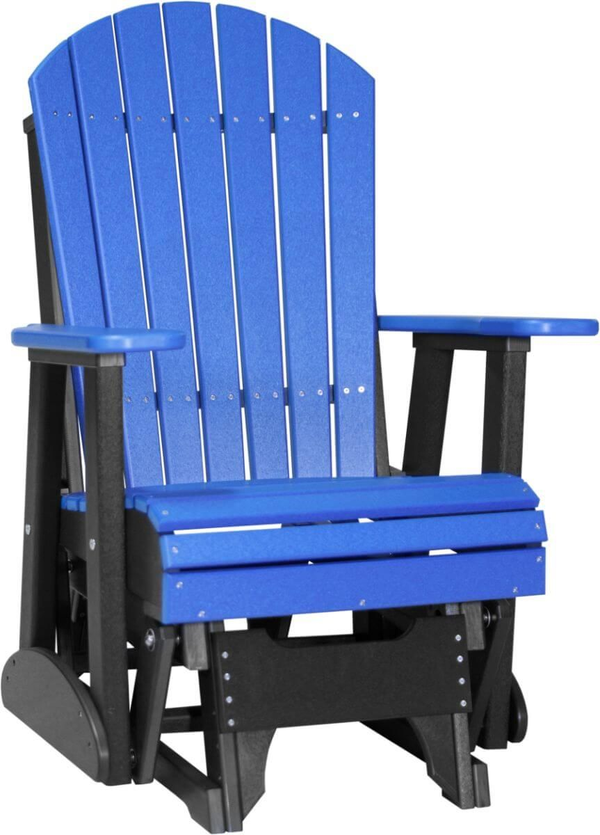 Blue and Black Tahiti Outdoor Glider
