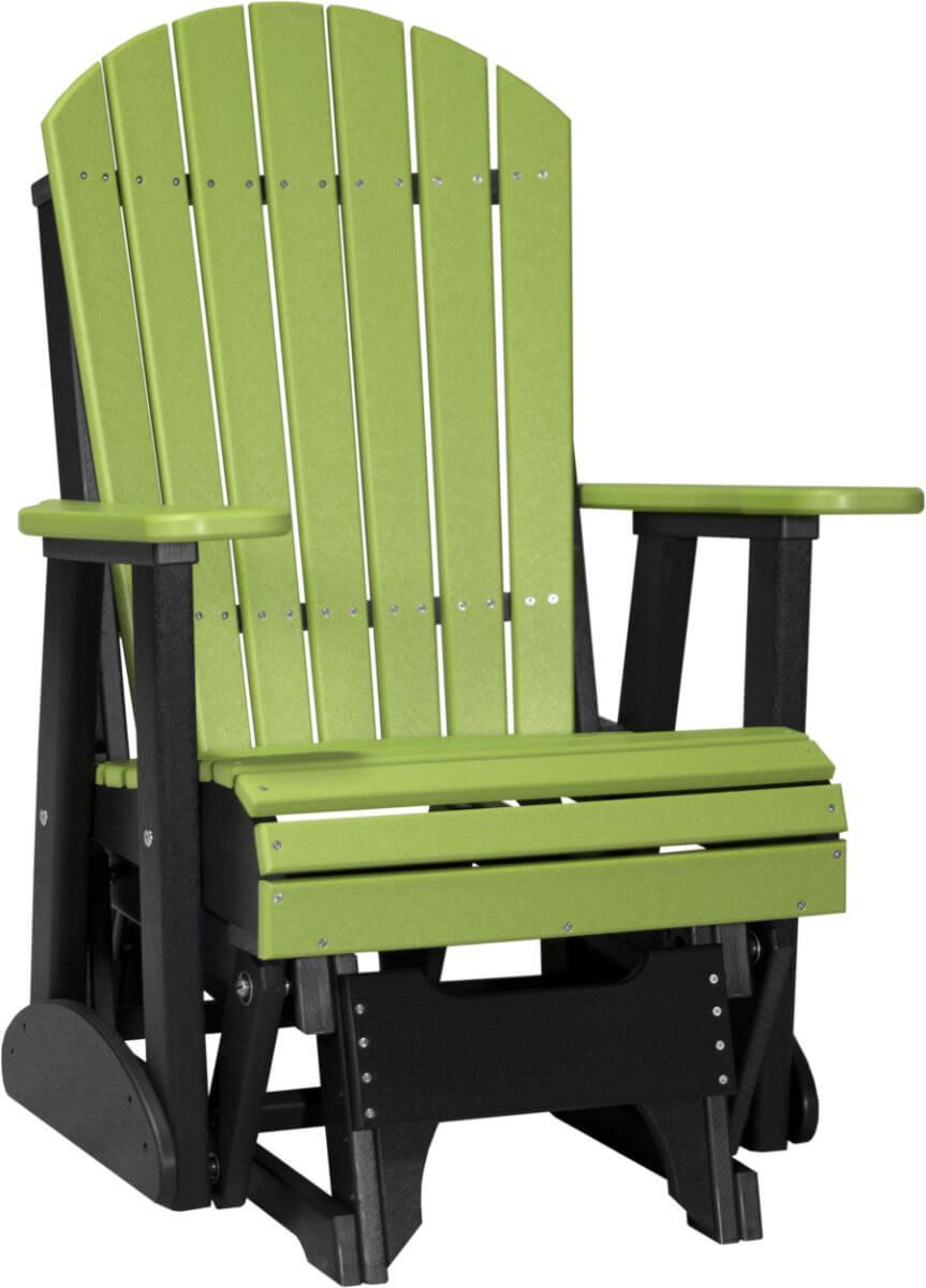 Lime Green and Black Tahiti Outdoor Glider