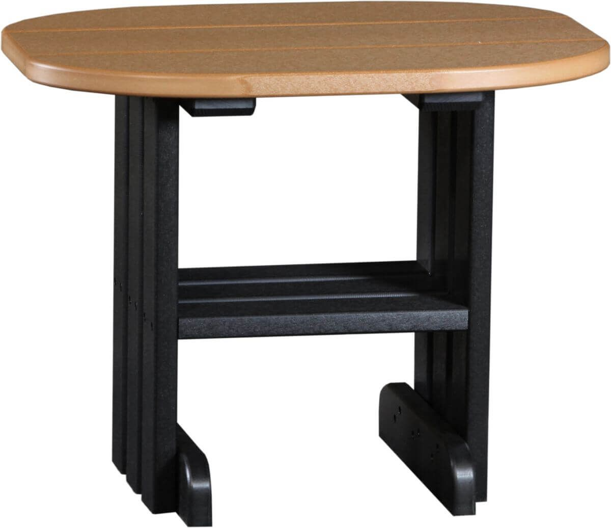 Cedar and Black Tahiti Outdoor Side Table