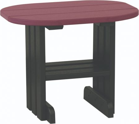 Cherrywood and Black Tahiti Outdoor Side Table