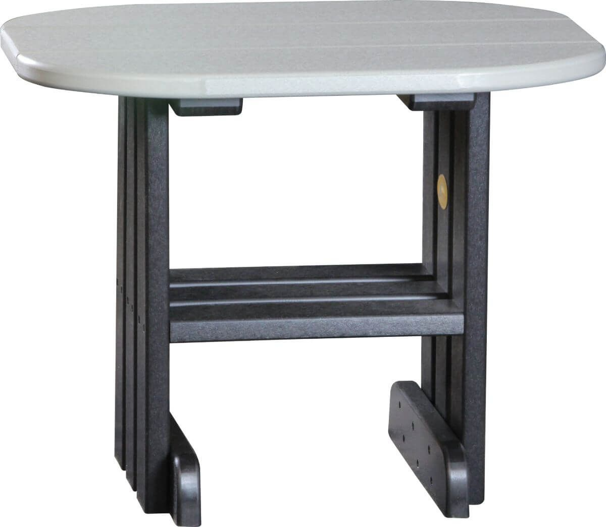 Dove Gray and Black Tahiti Outdoor Side Table