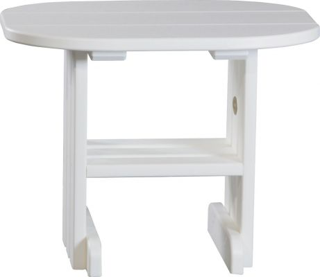 White Tahiti Outdoor Side Table