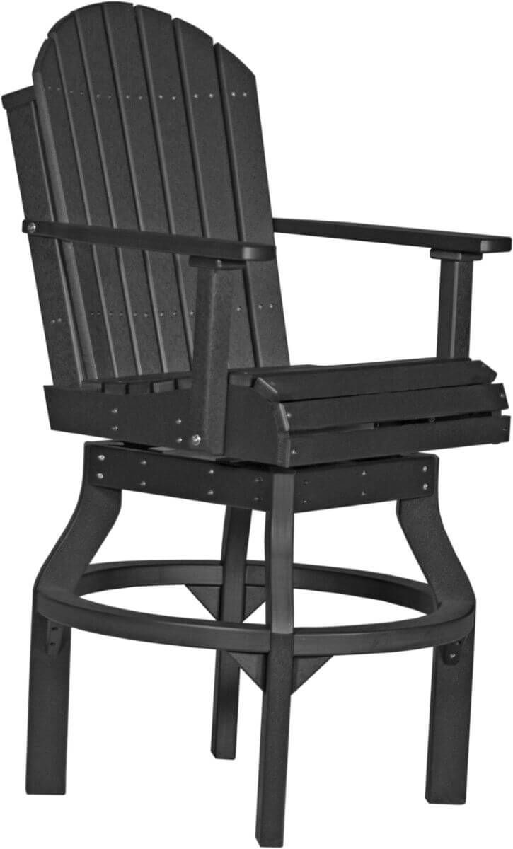 Black Tahiti Outdoor Swivel Bar Chair