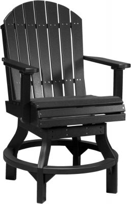 Black Tahiti Outdoor Swivel Counter Chair