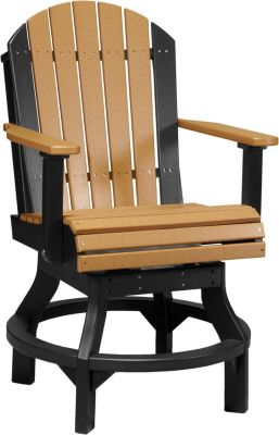 Cedar and Black Tahiti Outdoor Swivel Bar Chair