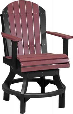 Cherrywood and Black Tahiti Outdoor Swivel Bar Chair