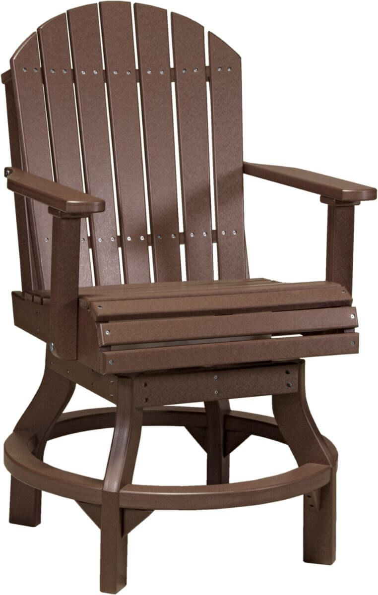 Chestnut Brown Tahiti Outdoor Swivel Bar Chair