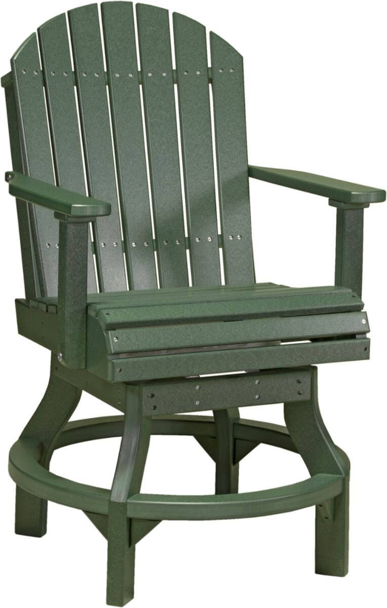 Green Tahiti Outdoor Swivel Bar Chair