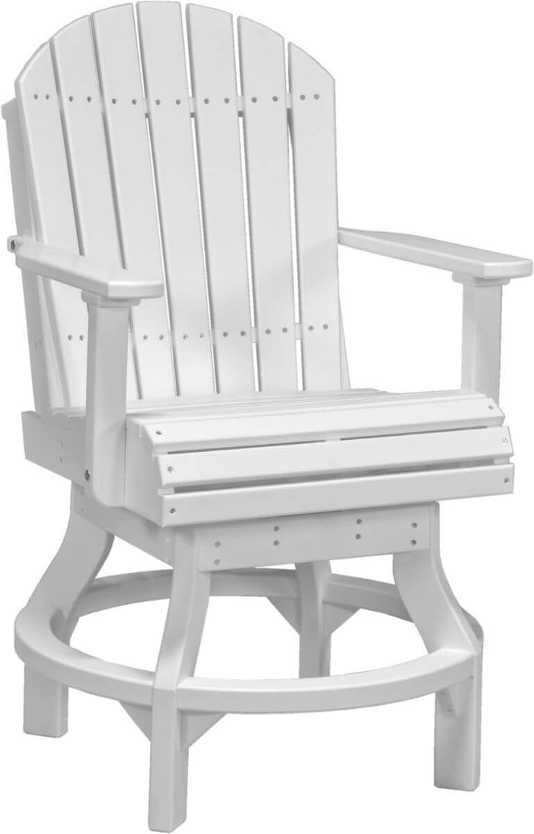 White Tahiti Outdoor Swivel Bar Chair