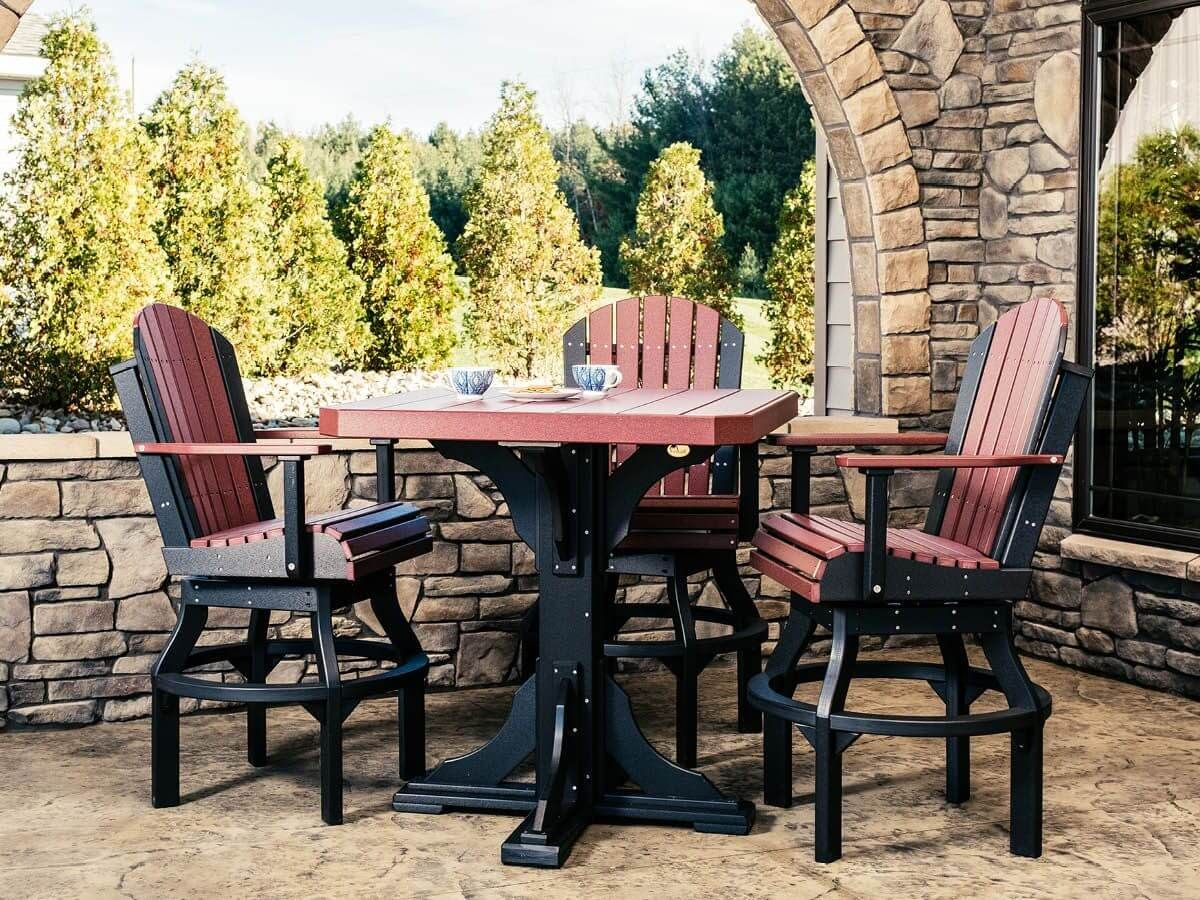 Tahiti Outdoor Swivel Bar Chair and Table
