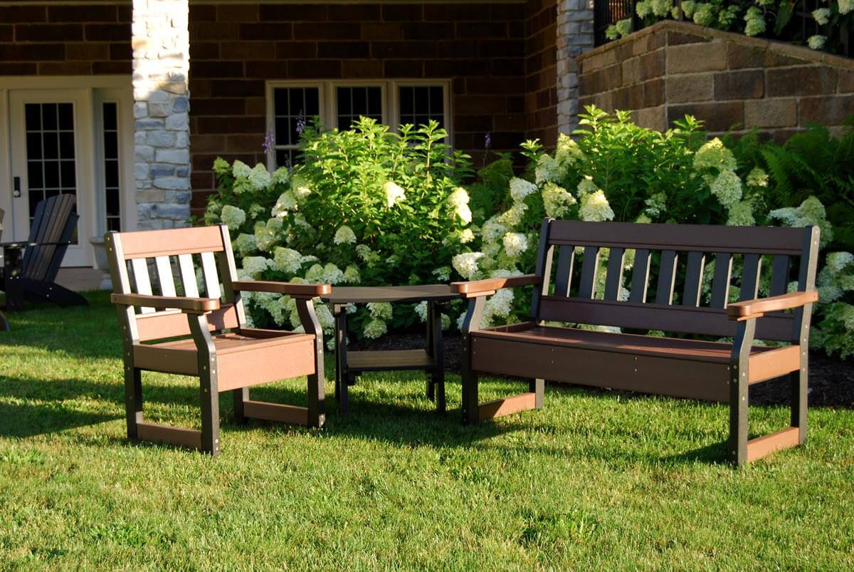 Aden Garden Bench and Patio Chair
