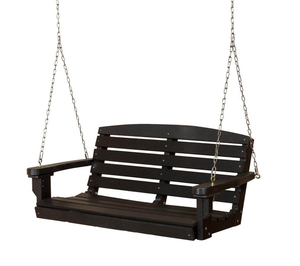Black Green Bay Porch Swing