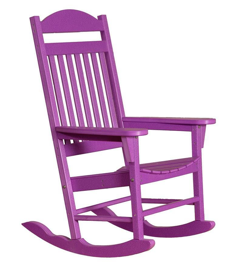 Bright Purple Santorini Outdoor Rocker