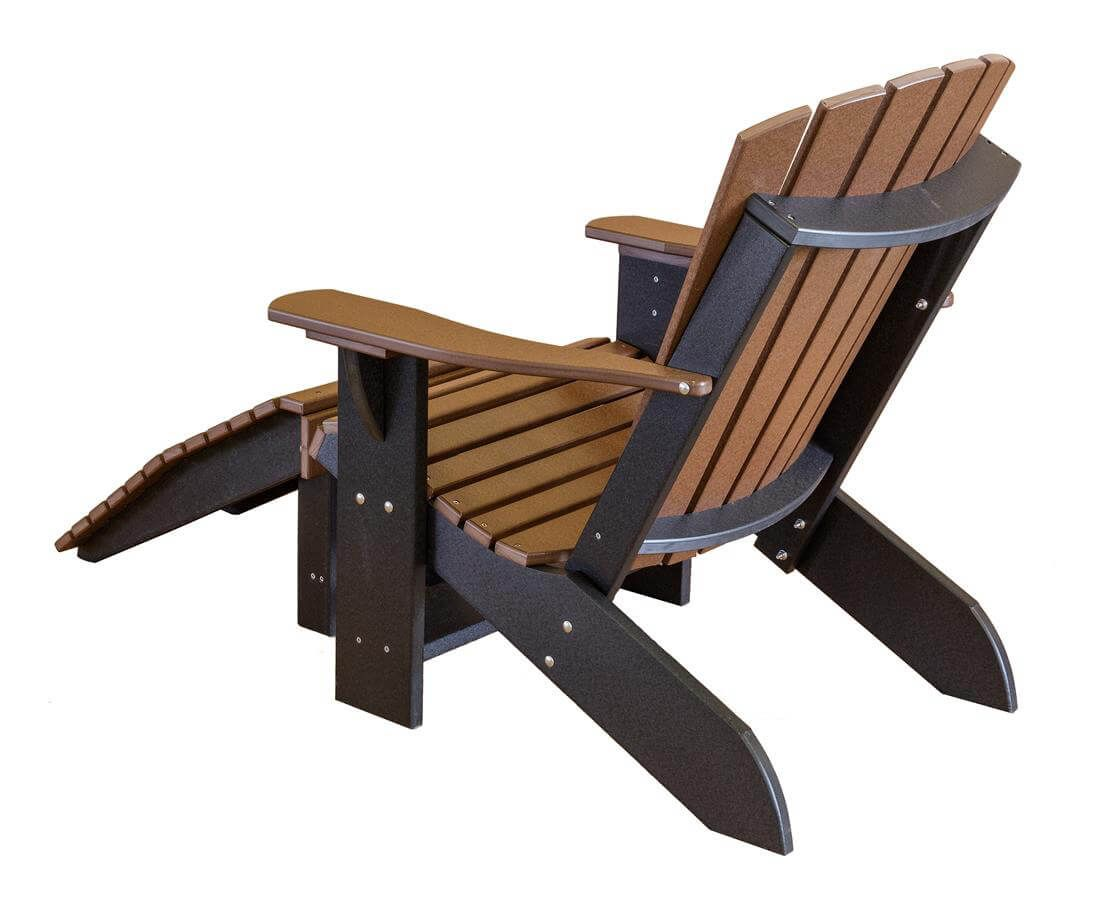 Sidra Adirondack Chair with Leg Rest - Back View
