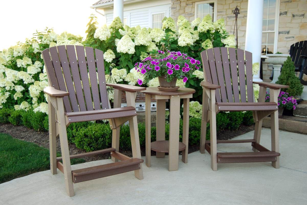 Sidra High Adirondack Chairs -  Shown with Balcony Table