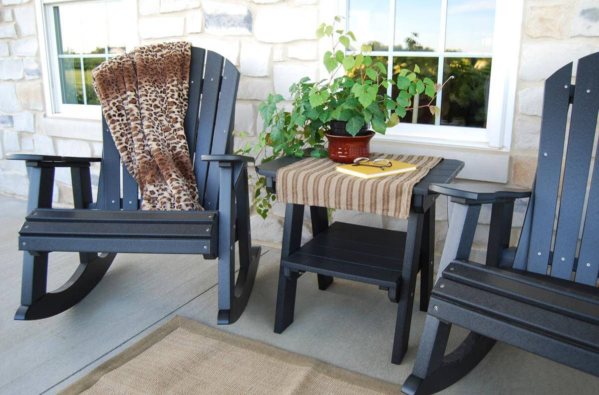 Sidra Adirondack Rockers - Pictured in Black
