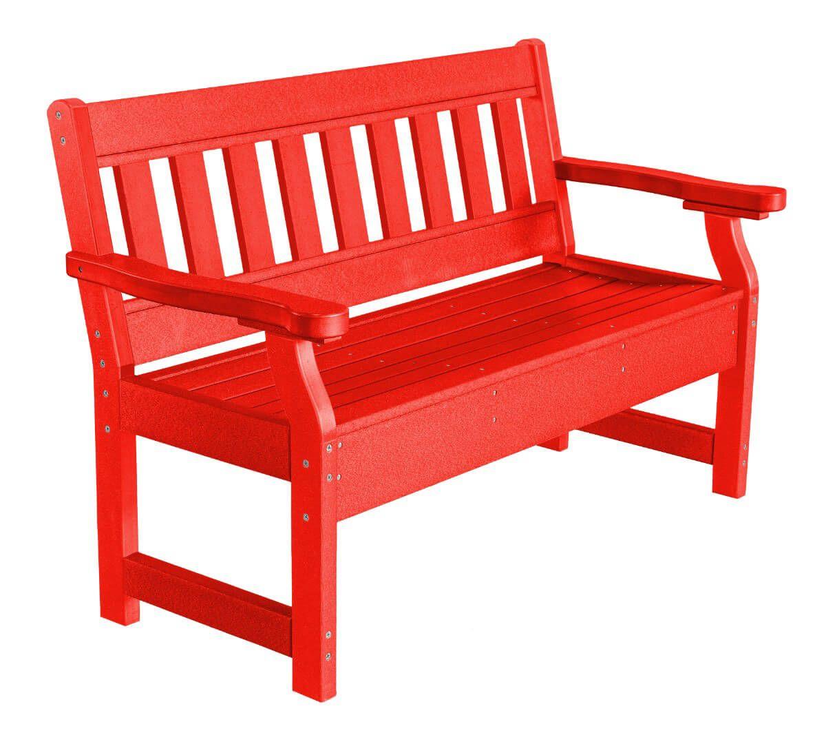 Bright Red Aden Garden Bench