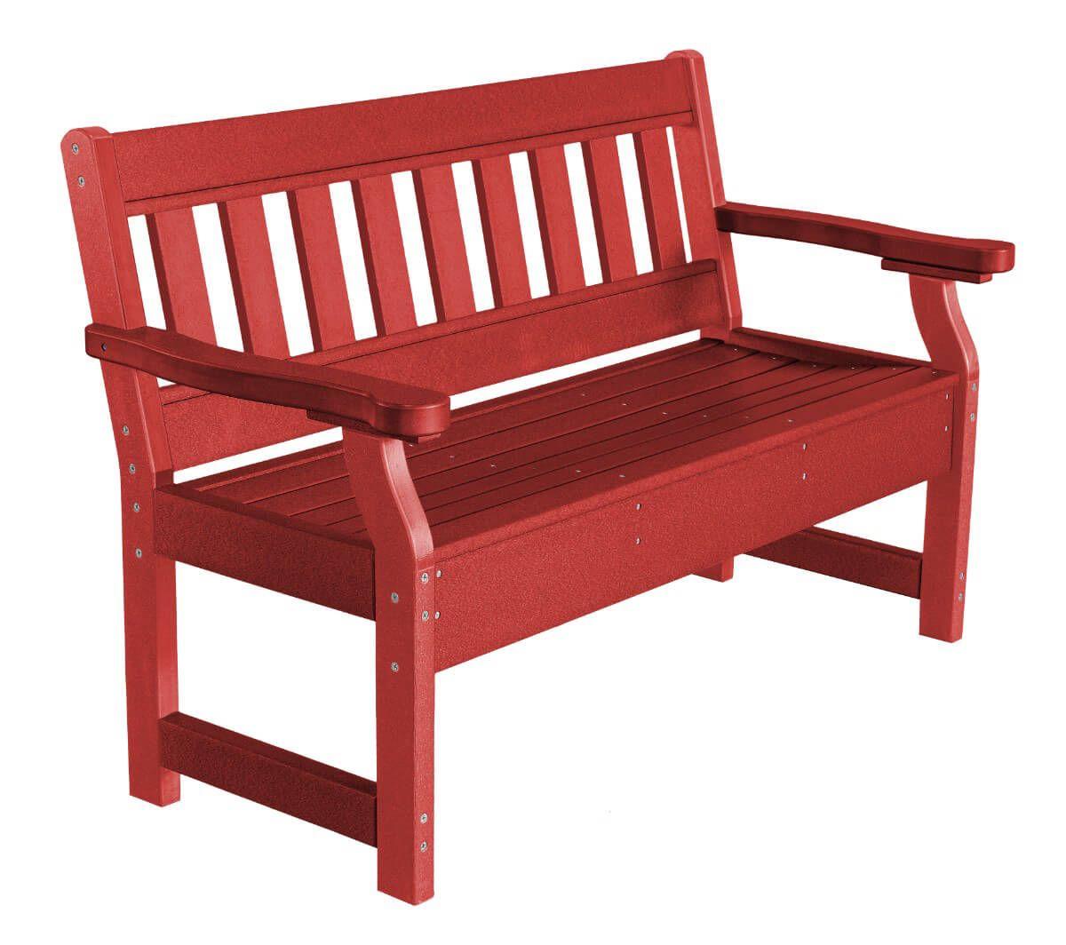 Cardinal Red Aden Garden Bench