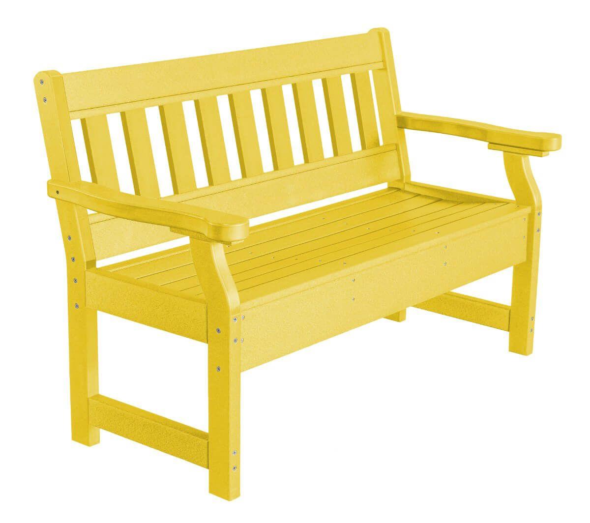 Lemon Yellow Aden Garden Bench