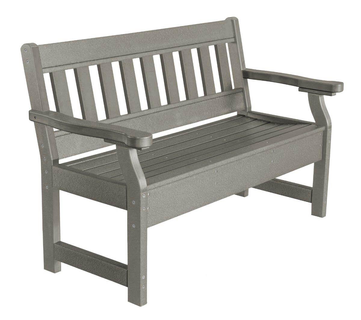 Light Gray Aden Garden Bench