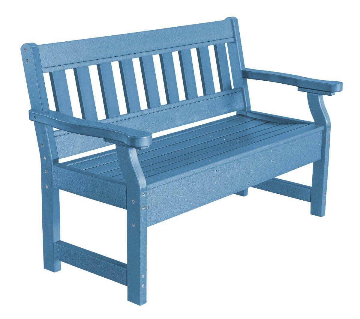 Powder Blue Aden Garden Bench