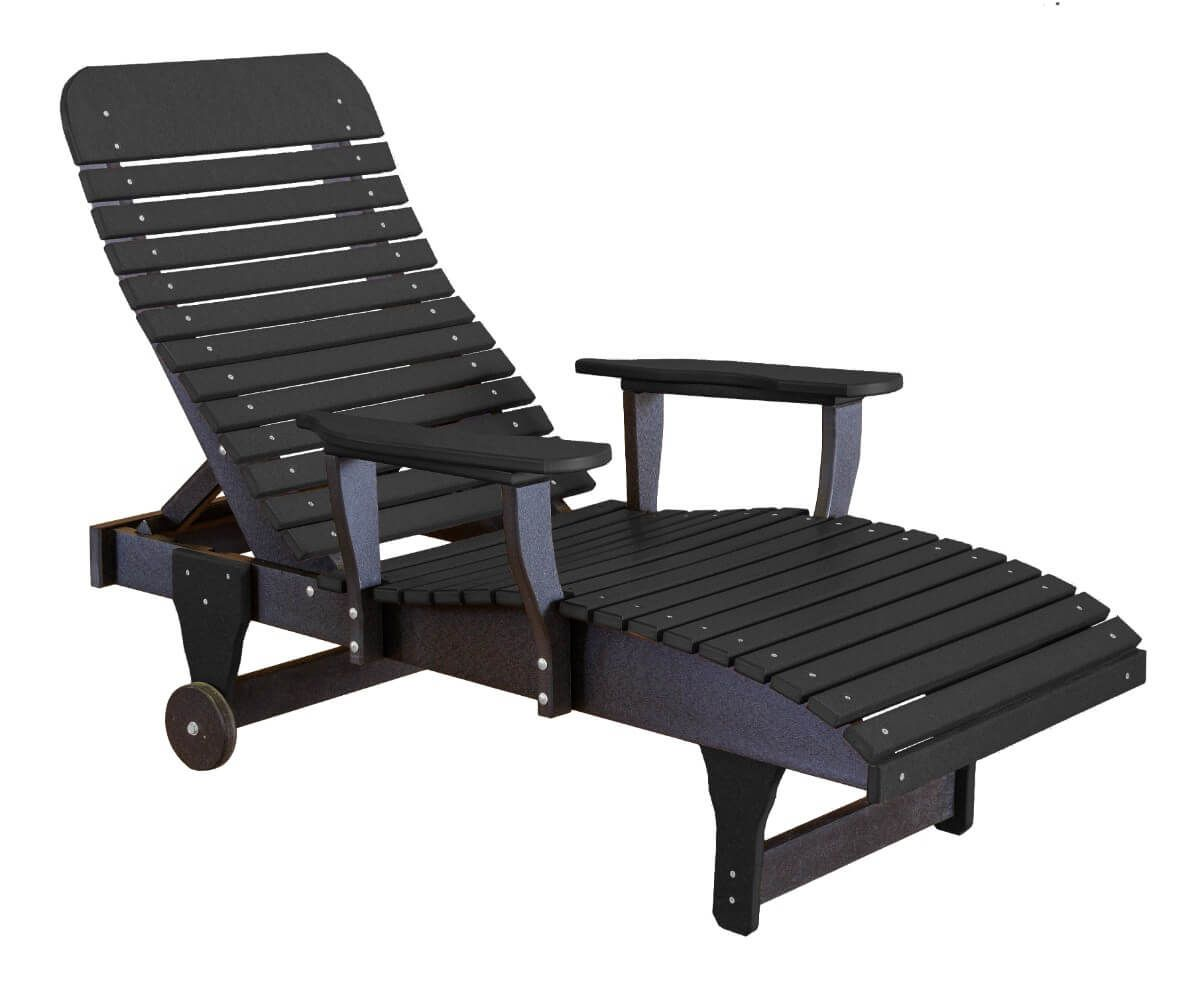 Black Andaman Outdoor Chaise Lounge