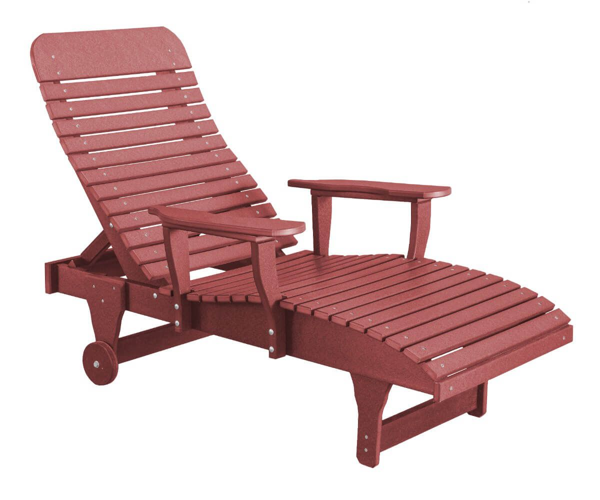 Cherry Wood Andaman Outdoor Chaise Lounge