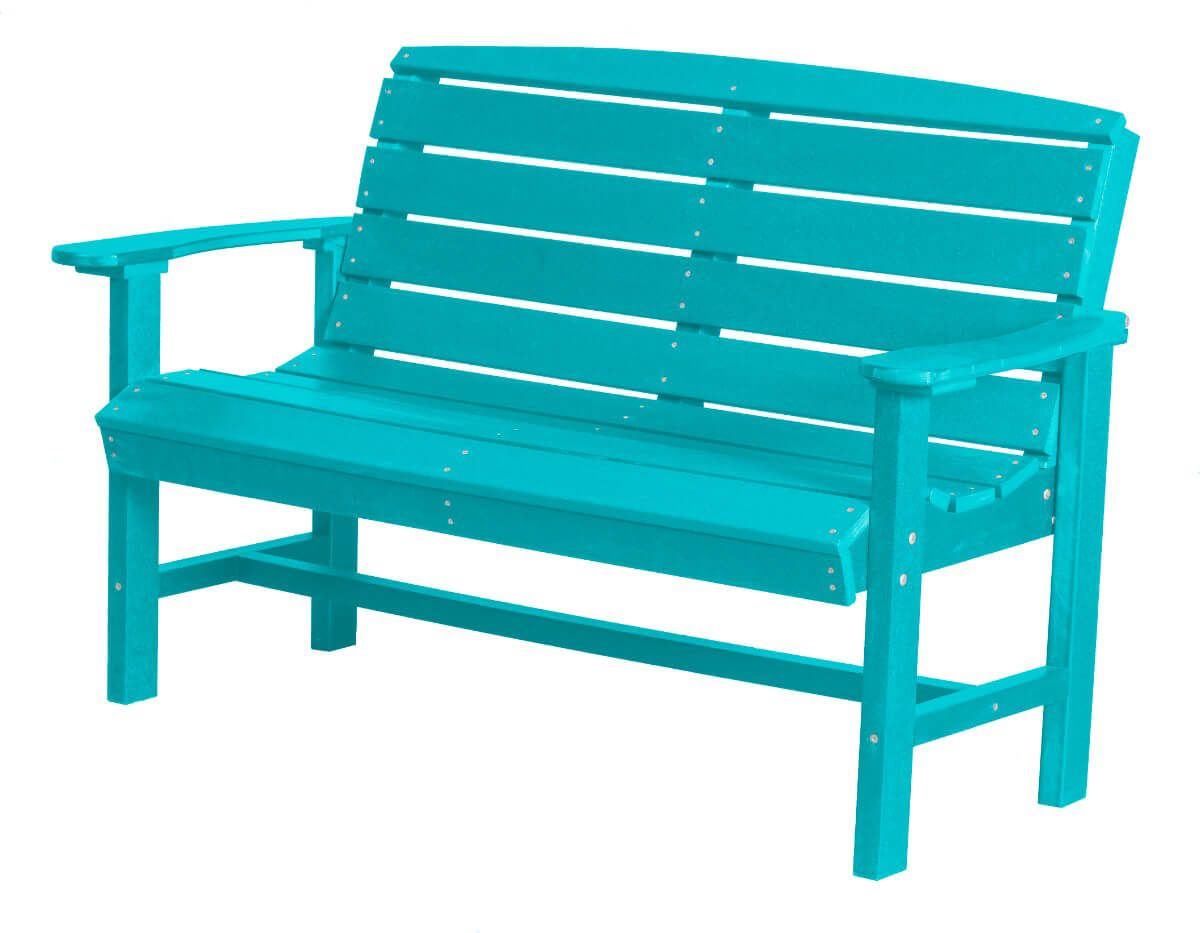 Aruba blue green bay outdoor bench