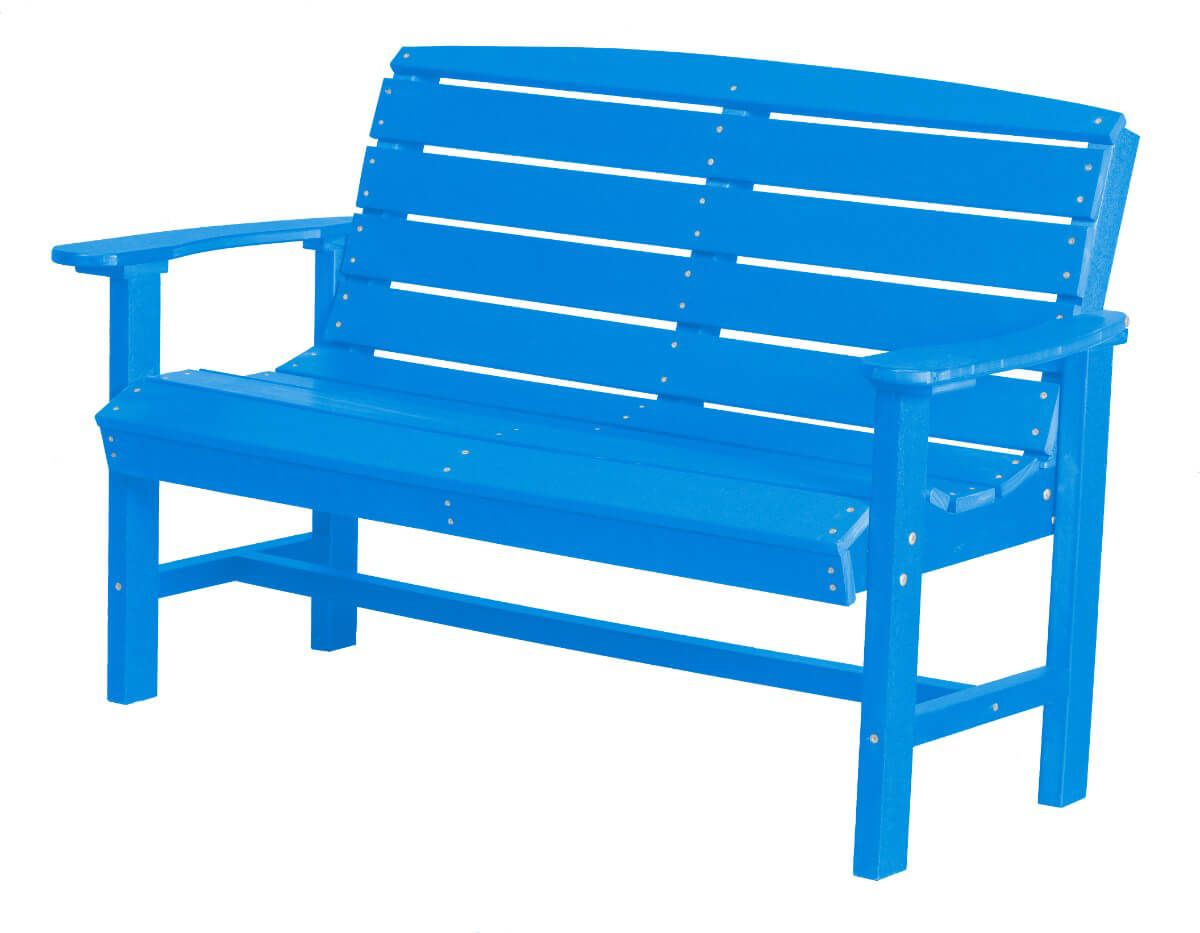 Blue Green Bay Outdoor Bench