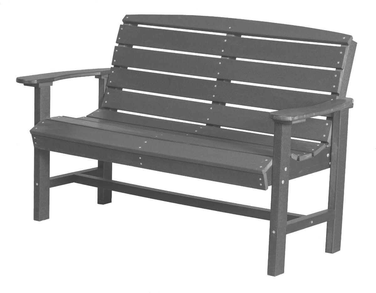 Dark Gray Green Bay Outdoor Bench