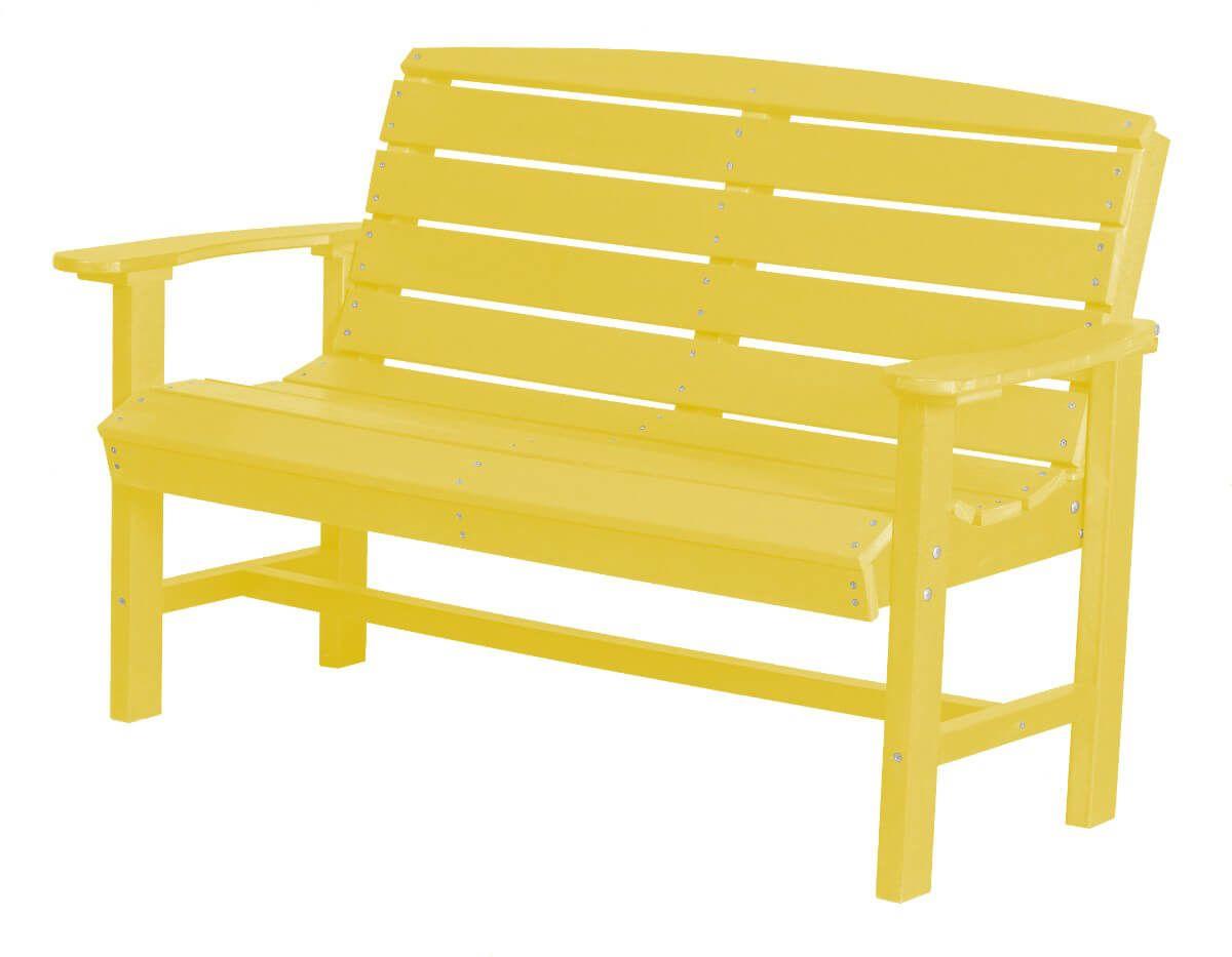 Lemon Yellow Green Bay Outdoor Bench