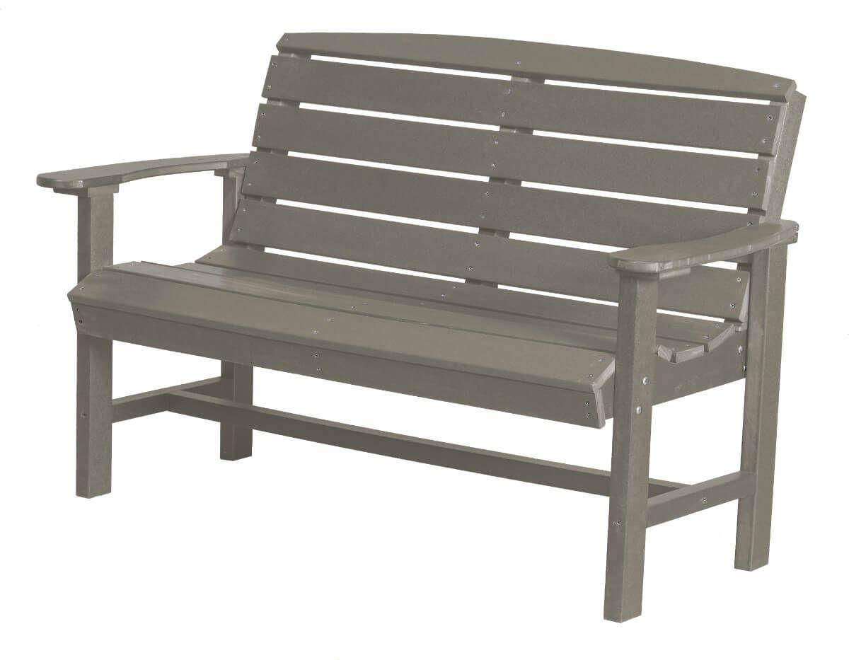 Light Gray Green Bay Outdoor Bench