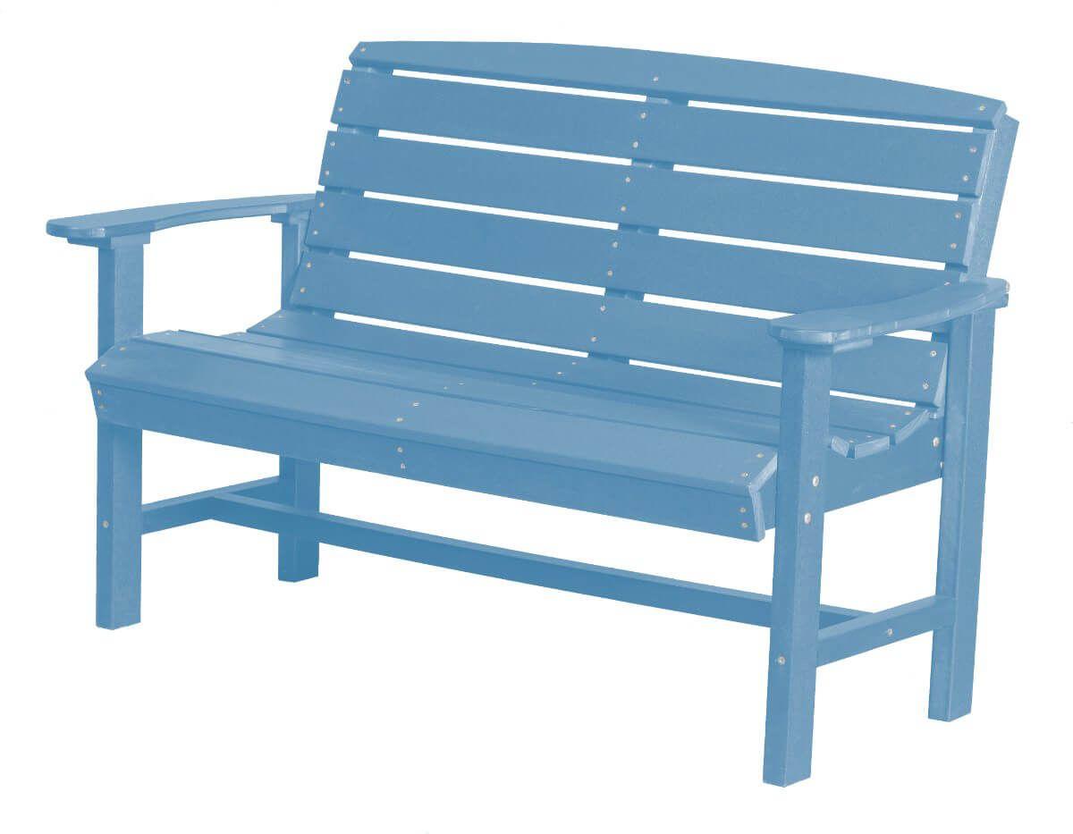 Powder Blue Green Bay Outdoor Bench