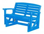 Blue Green Bay Outdoor Double Glider