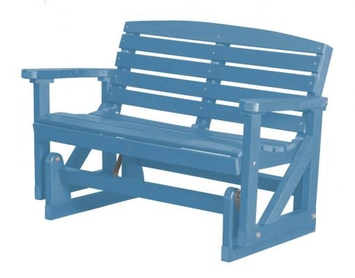 Powder Blue Green Bay Outdoor Double Glider