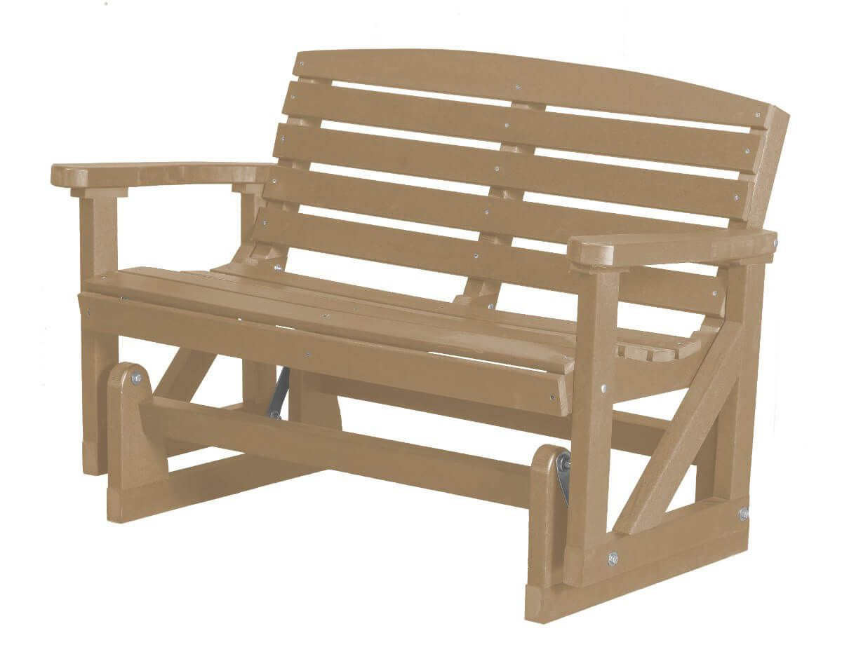 Weathered Wood Green Bay Outdoor Double Glider