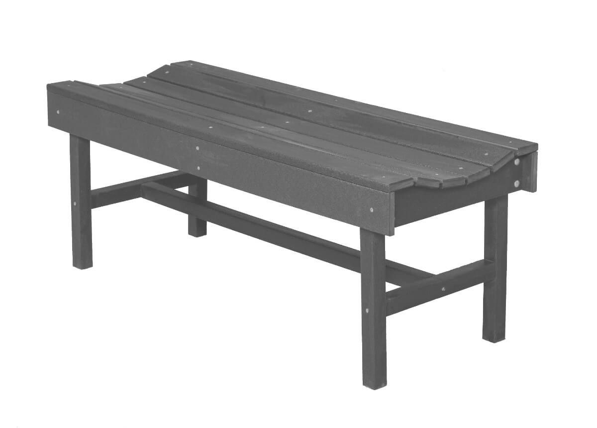 Dark Gray Green Bay Park Bench