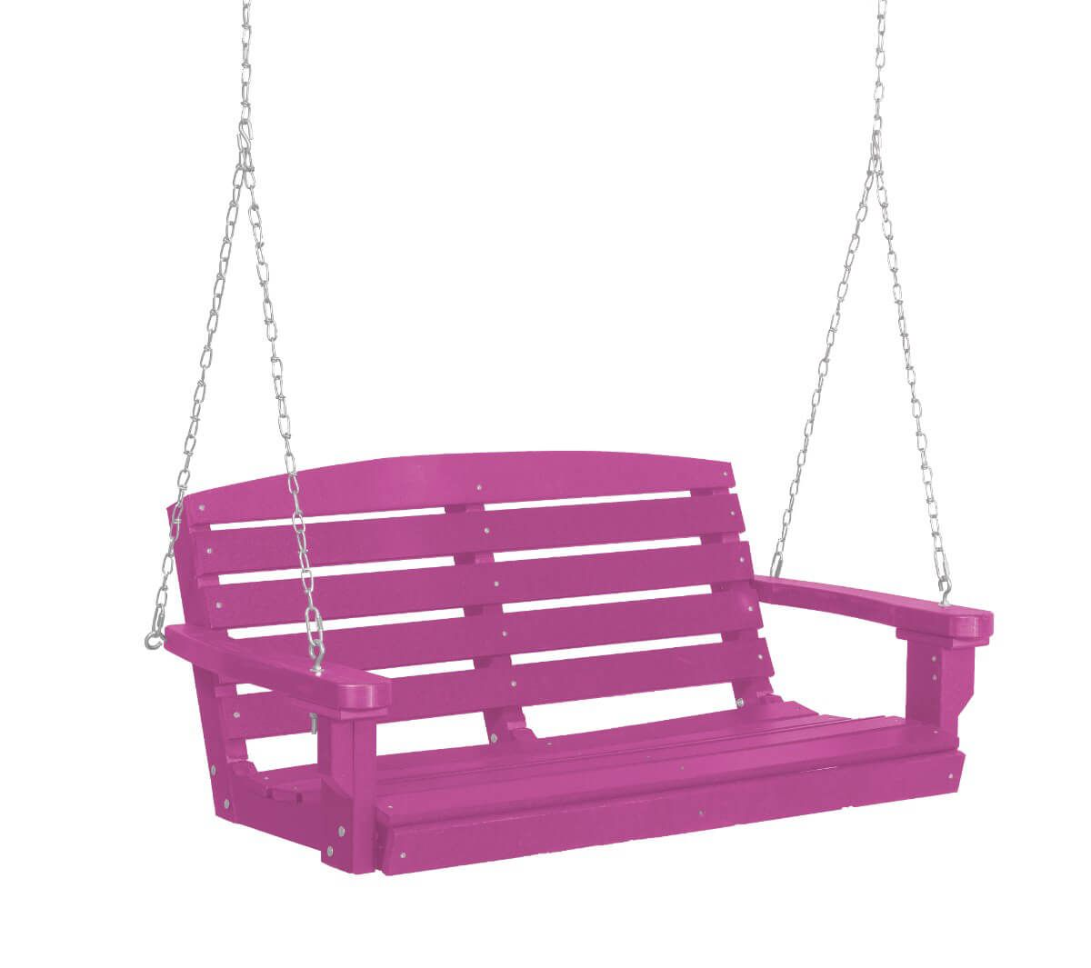 Purple Green Bay Porch Swing