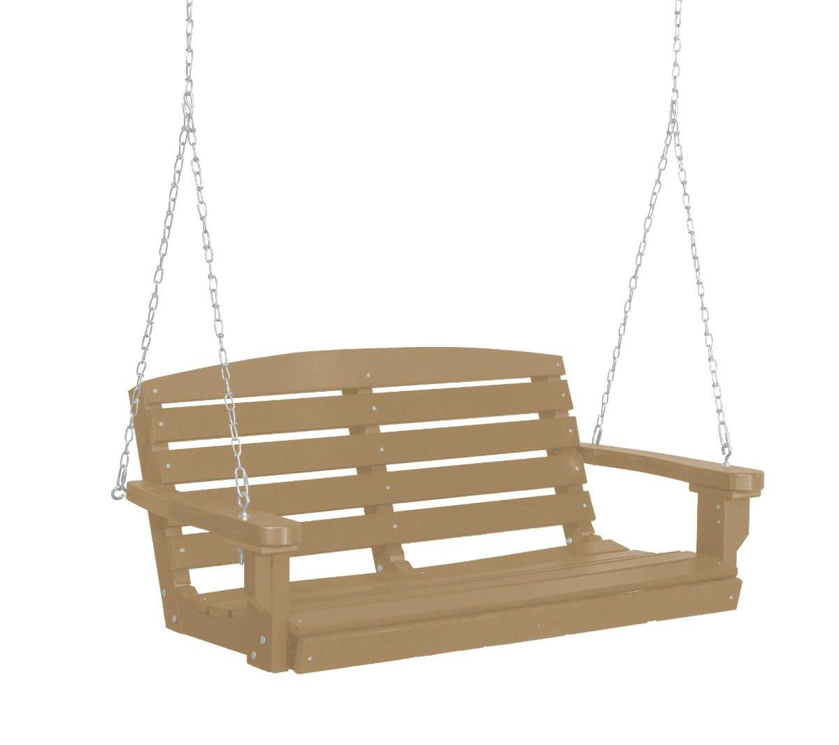 Weathered Wood Green Bay Porch Swing