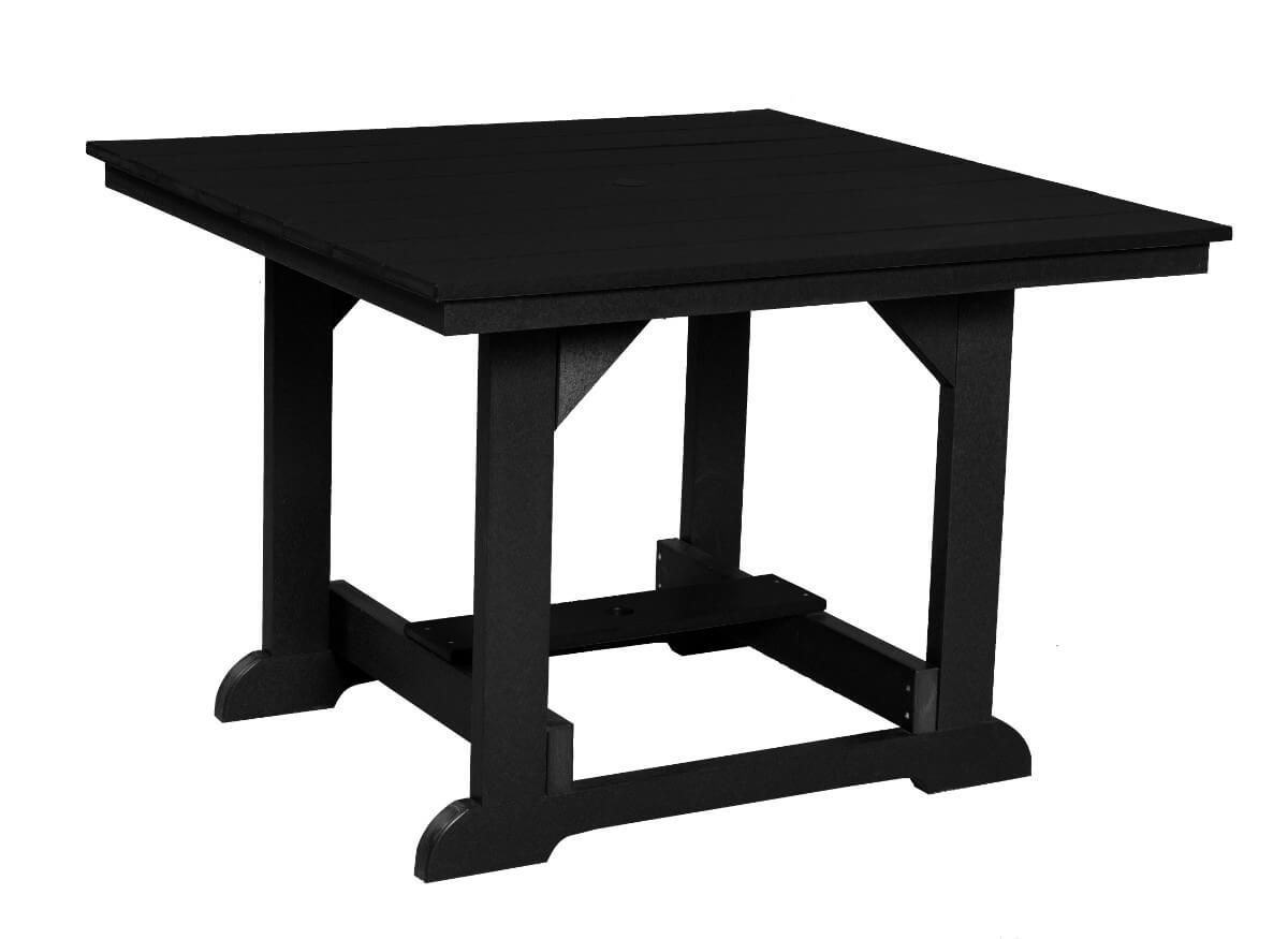 Black Oristano Square Outdoor Dining Table