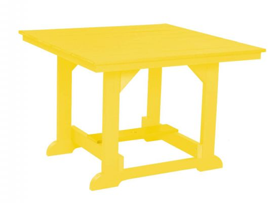 Yellow Oristano Square Outdoor Dining Table