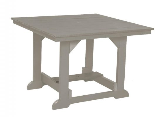 Light Gray Oristano Square Outdoor Dining Table