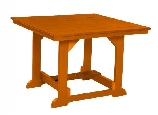Orange Oristano Square Outdoor Dining Table