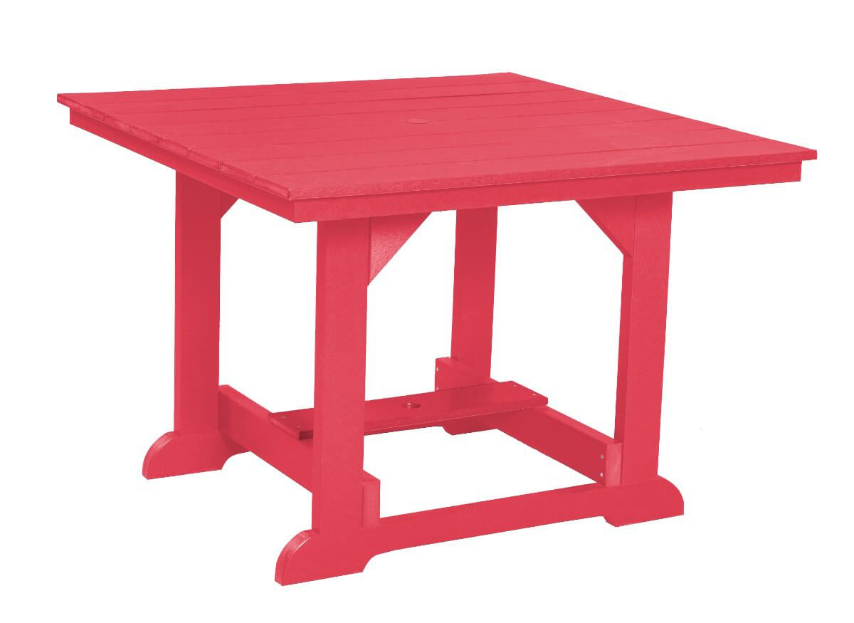 Pink Oristano Square Outdoor Dining Table