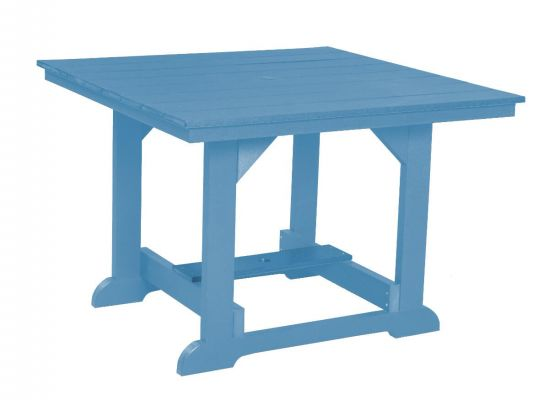 Powder Blue Oristano Square Outdoor Dining Table