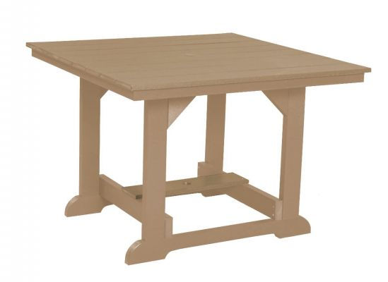 Weathered Wood Oristano Square Outdoor Dining Table