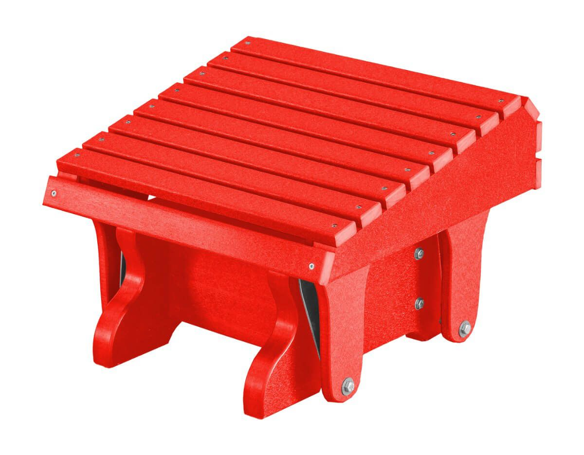 Bright Red Sidra Outdoor Gliding Footrest